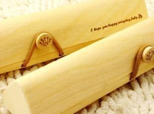 ♂最可爱♀日韩国创意文具6303三角木质铅笔盒笔袋文具盒满88包邮,文具,