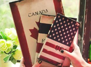 三年二班●联华文具 异域风情 国旗风格硬抄本 日记本 笔记本子,文具,