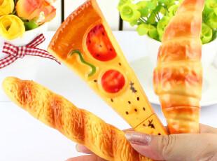 黑森林★韩国文具 创意仿真 面包 披萨 牛角 圆珠笔 带磁铁,文具,
