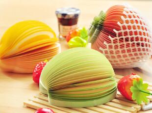 三年二班●创意文具 苹果和梨 可爱水果造型便条 便签本 记事本子,文具,