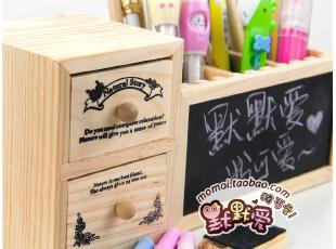 默默爱♥ 韩国 小清新 超实用 多功能 留言黑板 可爱木质插槽笔筒,文具,