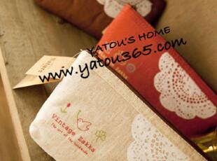 【满6件包邮】vintage zakka帆布复古笔袋 4色选,文具,
