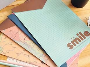 韩国文具 时尚 A4大尺寸 粘扣文件袋 档案袋 2枚/套 办公用品 2款,文具,