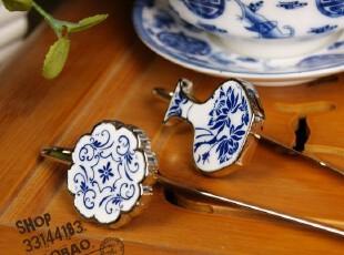 中国风~青花瓷 金属创意古典书签 拆信刀书签 3款选,文具,