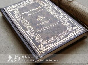 神秘花园 欧式复古烫金日记本 笔记本 记事本子 创意文具 390g,文具,