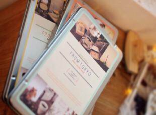zaa杂啊 精致马口铁盒装旅行装饰贴纸 可爱日记贴纸 14张 随机 特,文具,