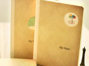 zaa杂啊 Big Hippo 可爱创意韩国文具作业本 笔记本子 32k中号,文具,