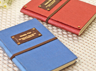 韩国文具 weekly 笔记本 本子 记事本 日程本创意本子 绑带计划本,文具,