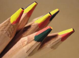 多纸巷/4色铅笔 一支只能写出4种颜色的铅笔 彩色铅笔 创意文具,文具,