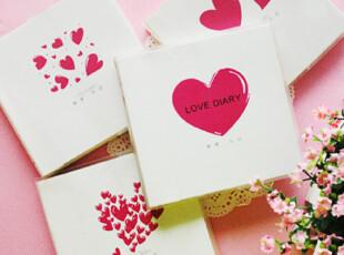 韩版文具 恋爱日记本 甜蜜恋爱365天记事本笔记本爱情交换日记,文具,