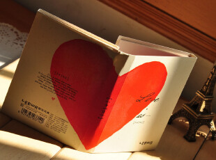 爱心四折♥韩国本子 可爱 便签本 创意 便签本 记事本 欧式 随身,文具,