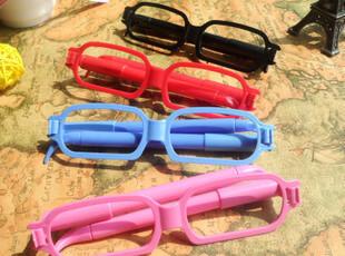 生活糖果 48包邮 儿童礼物 创意文具 彩色眼镜框造型圆珠笔 2支装,文具,