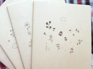 【本木】B5/16开 素颜 zakka植物园里的小虫子  横线作业本,文具,