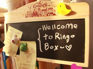 流年●日韩国文具 可爱 原木可挂式 黑板 木制双面链条 留言板,文具,