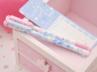 创意日韩文具 晨光中性笔 心心相惜 情侣笔 对笔 带课程表 2支,文具,