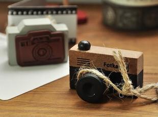 S150 韩国文具 批发 创意商品 复古小相机造型 原木头印章,文具,