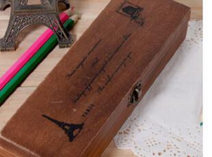 欧式复古创意文具盒|木质|满包邮|韩国|铅笔盒|礼品|奖品|收纳盒,文具,