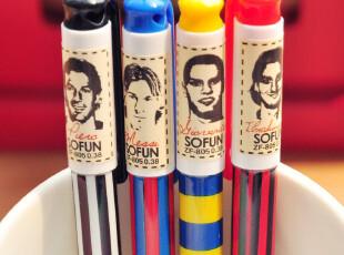 三年二班●韩国文具球迷必备 足球风 可爱简约中性笔 水笔 0.38mm,文具,
