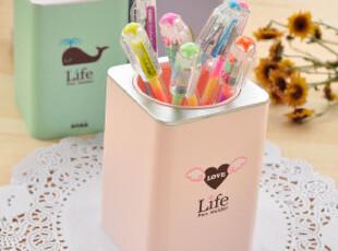 幸福市集★创意文具 可爱小清新 简洁时尚 小巧 方型笔筒收纳筒,文具,