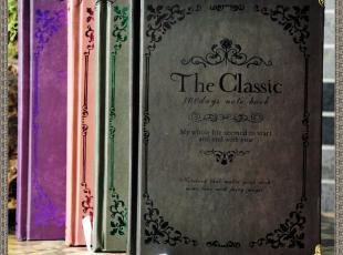 古典欧式哥特 艾薇之花 经典暗纹复古 工艺笔记本,文具,