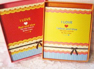 公主日记*超厚礼盒装*气质蕾丝本本笔记本浪漫全彩页可爱韩国文具,文具,