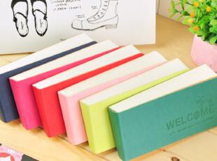 三年二班●韩国文具 糖果色超厚皮面便条本 便签本 小本子 6款,文具,