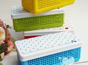 天卓95040网格文具盒 笔盒 多用途收纳盒 DIY韩国可爱创意文具,文具,