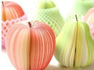 [今饰] 苹果/鸭梨便签 水果便签日韩文具创意家居便条本办公小物,文具,