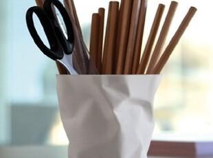 Essey penpen 褶皱笔筒 可爱 创意 时尚 黑色 创意礼品 丹麦设计,文具,