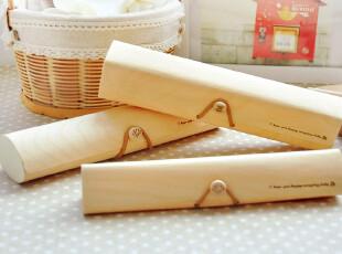 三年二班●韩国文具 可爱简约 软木纯色搭扣铅笔盒 文具盒 收纳盒,文具,