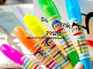 【韩国进口】 粗杆 易握 可爱的正品大嘴猴荧光笔 5色可选,文具,