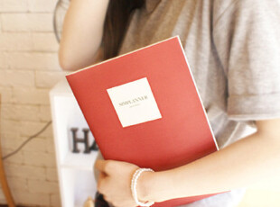 韩国创意文具 骑马钉 日程本 月计划本子 格子 B4笔记本 4款,文具,