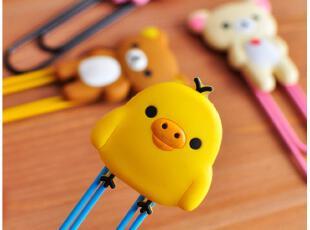 默默爱♥可爱小熊 黄小鸡 多用途夹 大回形针 书签 包夹,文具,