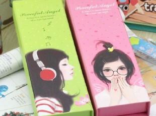韩国文具 可爱 时尚青春女孩 纸质文具盒/铅笔盒,文具,