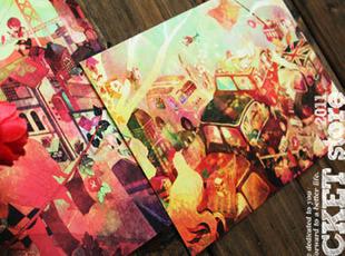 《迷城》 超大尺寸明信片 3张入,文具,