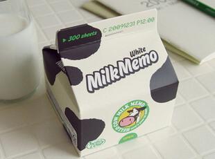 日韩热销 可爱牛奶屋盒装便签纸/可爱创意便签本盒  300页  105g,文具,