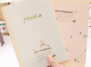 懒角落★日韩国文具 韩版 可爱猫咪森林 A5 笔记本 软抄本 22618,文具,