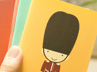 日韩国文具 可爱 世界小人 64K 铁钉 记事本/笔记本 W02,文具,