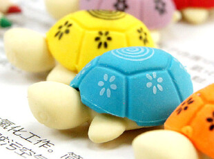 时尚豆芽※日韩国文具批发 卡通橡皮 多彩小乌龟造型橡皮擦1576,文具,