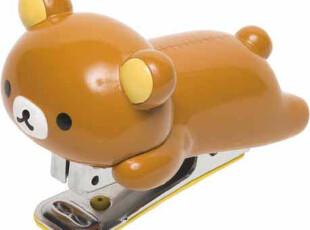 预订】日本SAN-X轻松熊RILAKKUMA文具系列订书器钉书机深色小熊,文具,