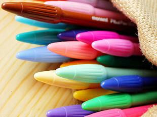 韩国文具慕娜美水彩笔彩色笔糖果色彩笔24色漫画笔日记本装饰笔,文具,