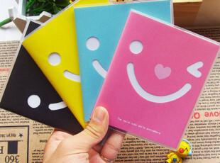 韩国创意文具批发 可爱笑脸胶套本 笔记本 记事本,文具,