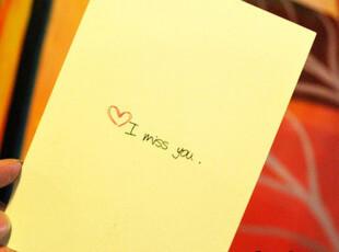 I Miss You♥韩国/情人卡片/创意/可爱/明信片【好久不见】贺卡,文具,