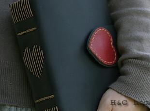 心锁 HG原创手工本子牛皮本子复古本子真皮记事本创意日记本爱心,文具,