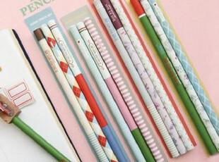 【木子】韩国正品代购iconic|标志性图案铅笔套装 3支入|4款选,文具,