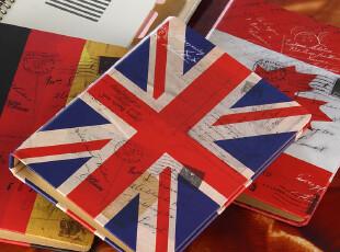 【欧风活页本】25K英伦国旗封面复古笔记本子记事本子/横线日记本,文具,