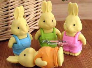 超创意 兔年发财可爱咪兔 送礼环保橡皮/动物橡皮/收藏橡皮,文具,
