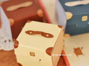 zaa杂啊 旅行的记忆 韩国文具创意旅行箱 超厚复古桌面便签本 小,文具,