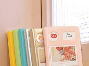 三天窗笔记本 仿皮胶套可爱日程本/日记本/计划本/记事本 送贴纸,文具,