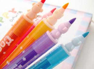 晨光文具晨光双头双色荧光笔AHM24001  6支套装.冰冰熊系列,文具,